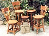 Mahogany Wood Kitchen Furniture Cooks Tables & Kitchen Stools